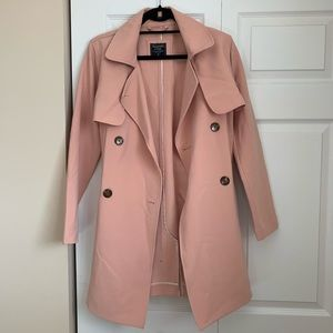 Abercrombie and Fitch pink trench coat